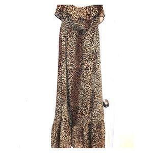 Tube top cheetah maxi dress. Worn once*